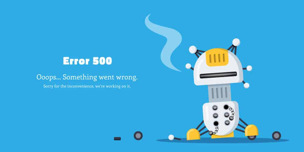 is currently unable to handle this request. http error 500